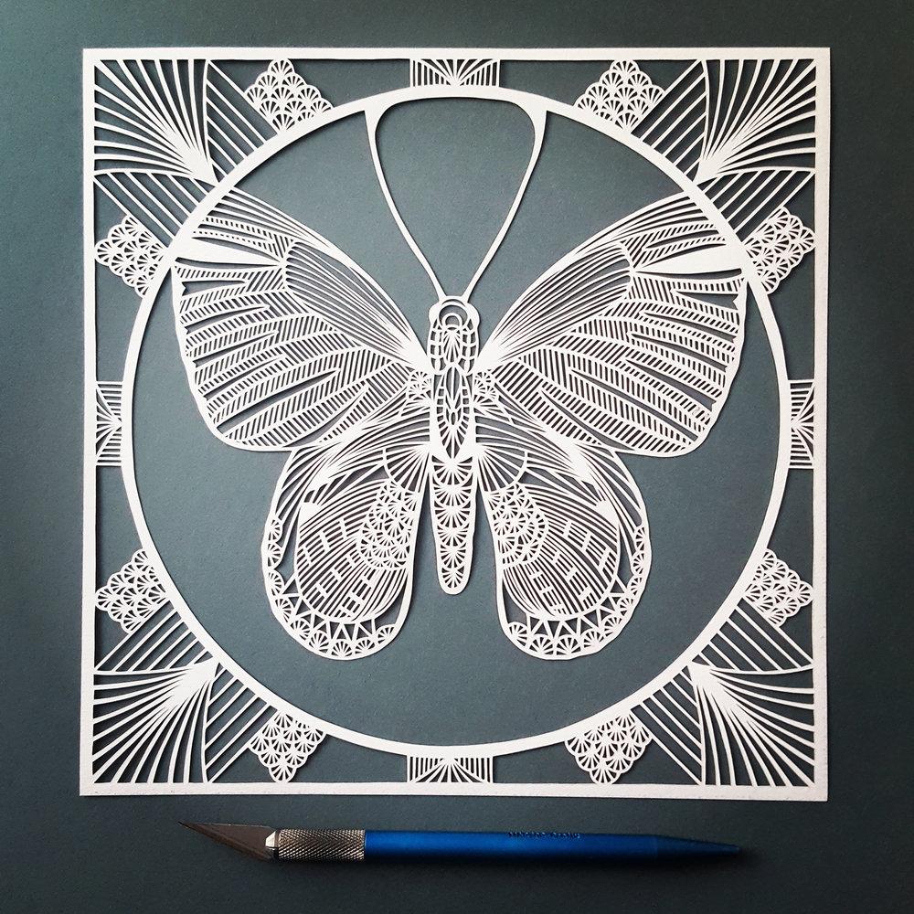 Papillon Paper Cut