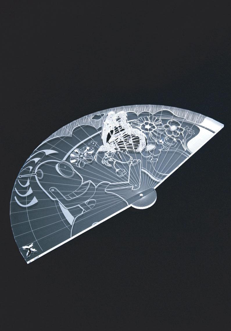 Ariedo  Atelier Doodle Riedizione di un oggetto della tradizione. Il ventaglio viene proposto con una grafica moderna.