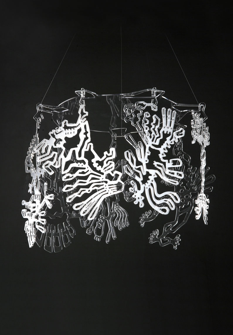 FreaKs  Pierre Foulonneau Decorative lampshade. A small circus to hang to your lamp bulb.