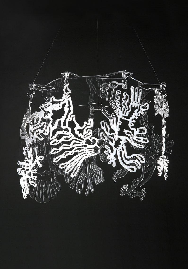 FreaKs  Pierre Foulonneau Paralume decorativo. Un piccolo circo da appendere alla vostra lampadina.