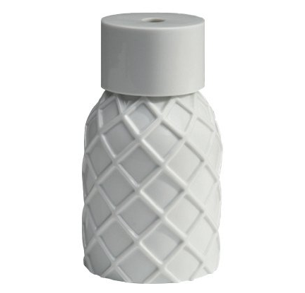 Vase Gauffre white glazed porcelain  Vautrin, Delvigne   Vases Textures Collection