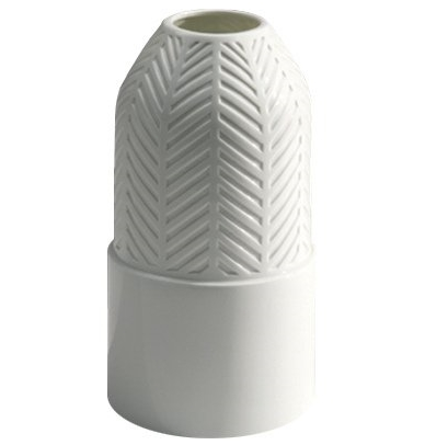 Vase Tisse white glazed porcelain  Vautrin, Delvigne   Vases Textures Collection