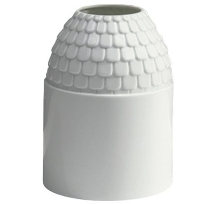 vase ecaille white glazed porcelain  Vautrin, Delvigne   Vases Textures Collection