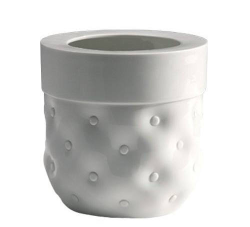 vase capitonne white glazed porcelain  Vautrin, Delvigne   Vases Textures Collection