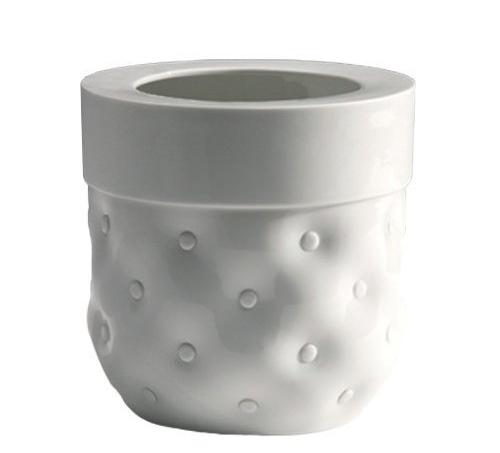 vase capitonne white glazed porcelain  Vautrin, Delvigne   Vases Textures Collection