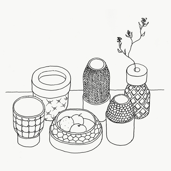 Sketch Vases Textures  Vautrin, Delvigne   Vases Textures Collection
