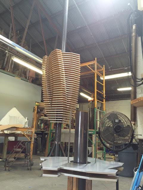 Budding Vortex ,  sculpture currently in production for Crescent Communities Development in Tampa, FL.