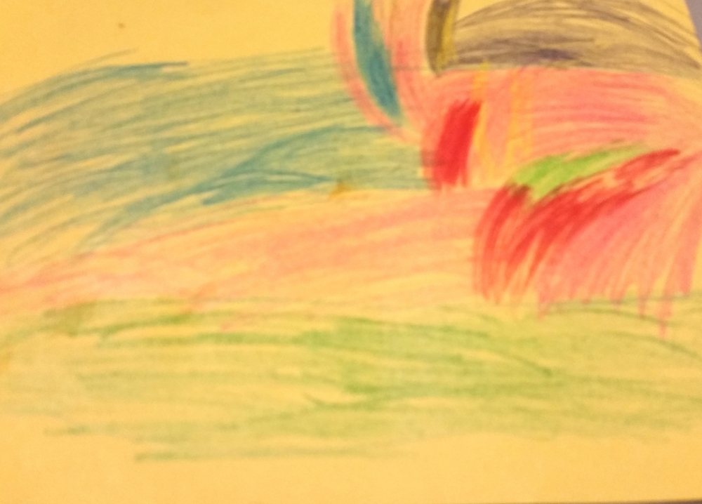 Our youngest campers were inspired by colorful landscapes.