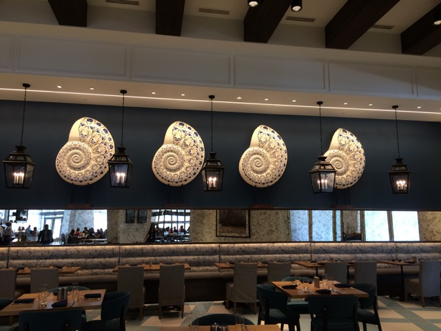 The shells have been completed and were installed yesterday at Saffire Falls in Orlando.