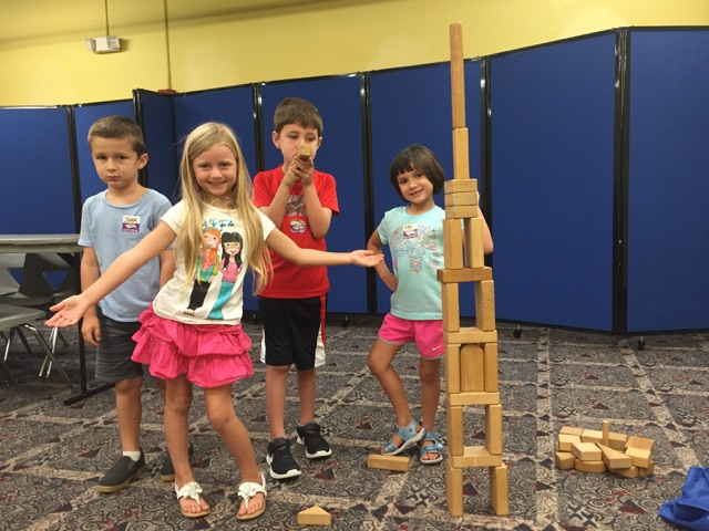 After learning about the amazing structures of South America, campers were inspired to build their own!