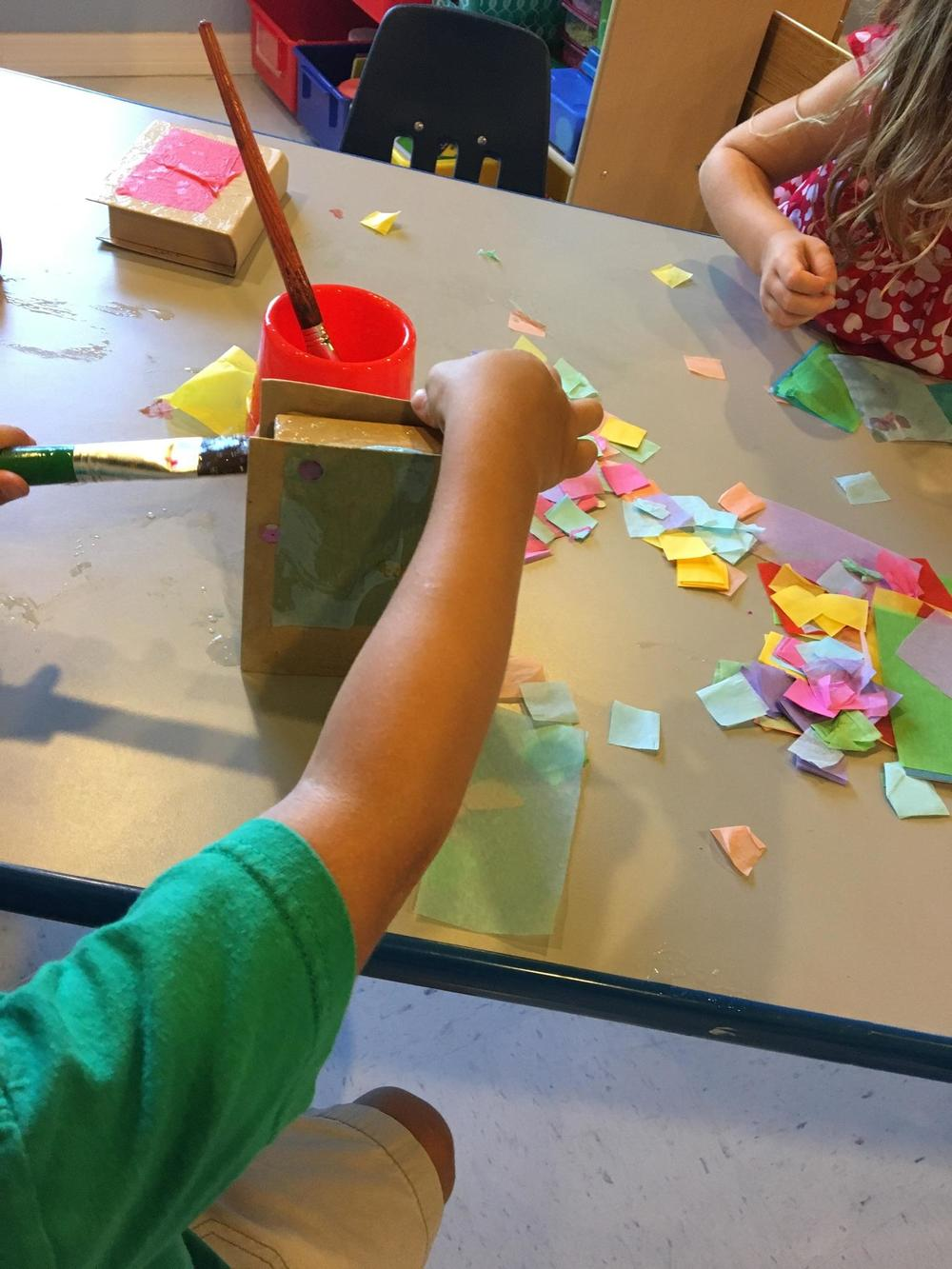 The sensory experience of getting sticky is part of the beauty and challenge of making art!