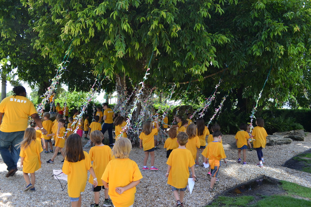 Campers enjoy the decoration of thousands and thousands of wristbands from previous visitors.