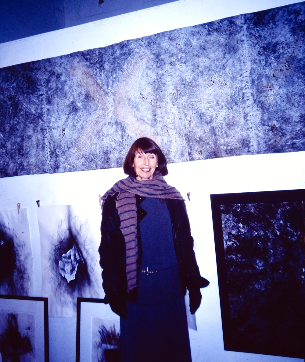 In my studio at Salt Creek Artworks shortly after I arrived in St Petersburg in 2000. It was located on Fourth Street South until a few years ago. This is where I had my first solo exhibition in St Petersburg. T he series,   Bound Crosses and Boundary Crossings,   a part of that show, was also exhibited in Richmond VA, Atlanta GA, at Hillsborough Community College in Ybor City and was part of my mini-retrospective,   Rose Marie Prins: The East Coast Years   at St Petersburg's Mahaffey Theater in 2013.