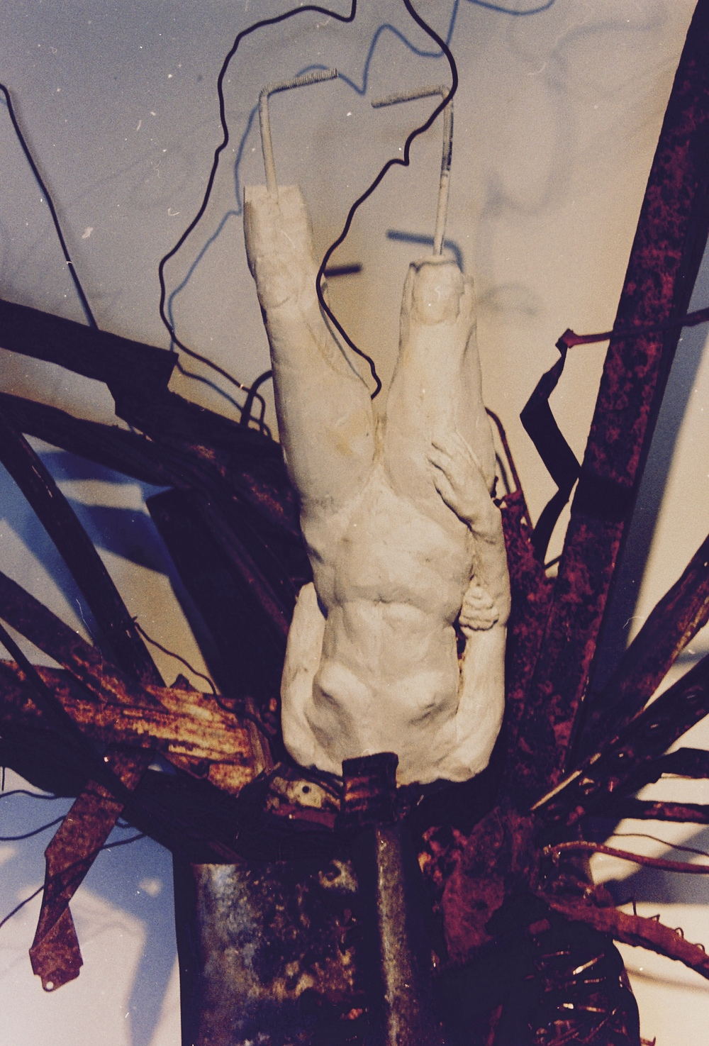 A detail from an installation,   Modern Interior ,  at Project Creo in the old pyramid pier building, St Petersburg, as part of a group show of installation art in the early 2000s