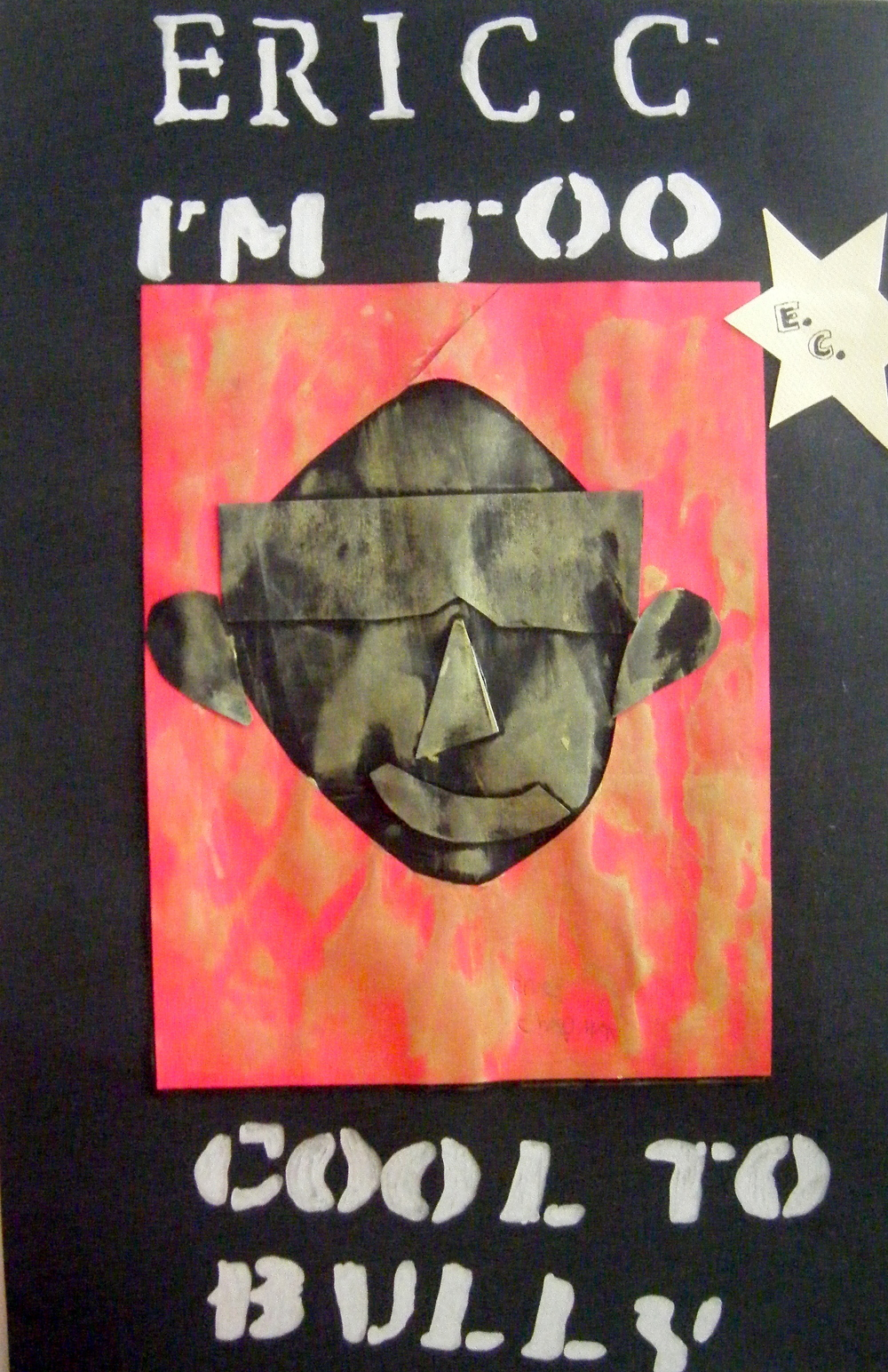 "One summer, a few years ago, I worked in tandem with a couple of educators and a writer to address the issue of bullying in our communities. The project was entitled ""Speak Up Speak Now!"" We worked with the teens in various Pinellas County institutions and my role, as the visual artist, was to make posters with  the teens  using collagraphed self portraits with anti-bullying slogans like ""My name is Brianna, I'm an Upstander not a Bystander!"" The posters were exhibited at the Florida Holocaust Museum in St Petersburg."