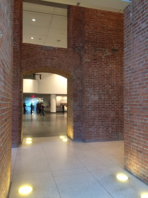 Another view inside the Brooklyn Museum showing the combination of old and new architecture