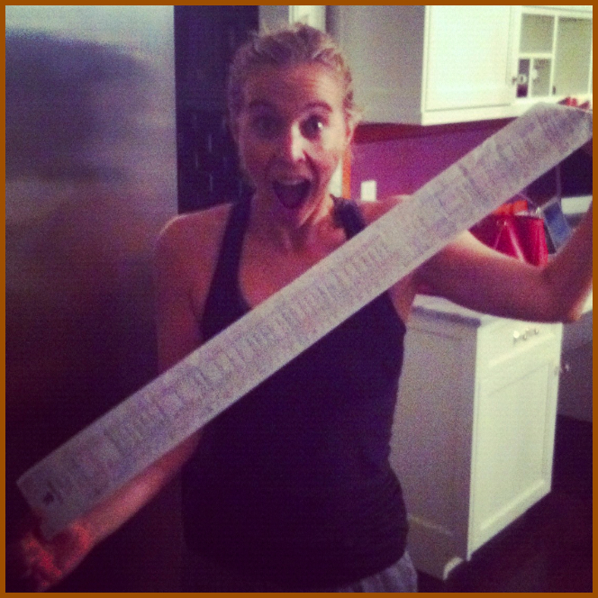 Grocery Shopping Huge Receipt