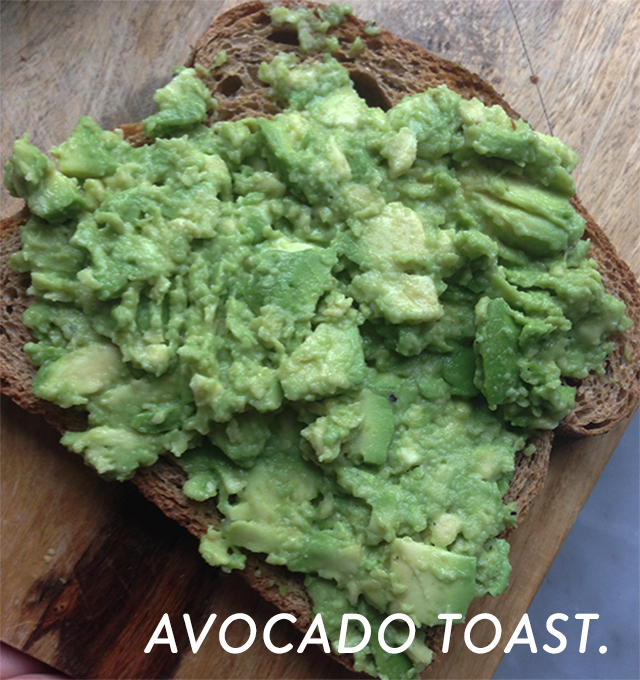 Jenn Falik's favorite healthy snack, avocado toast.