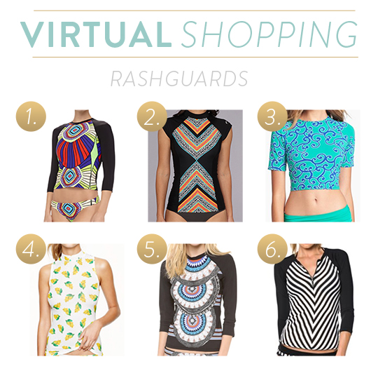 Most stylish rash guards for women.