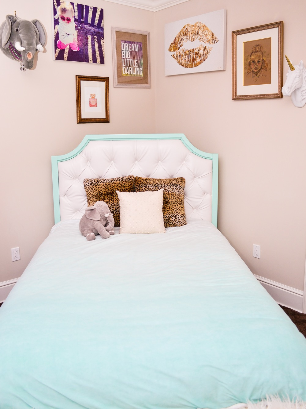 Magenta and Mint Bedroom