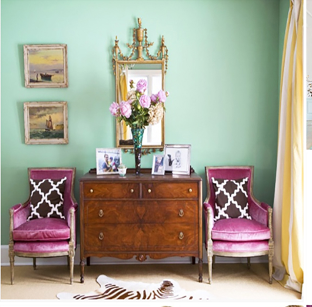 Magenta And Mint room