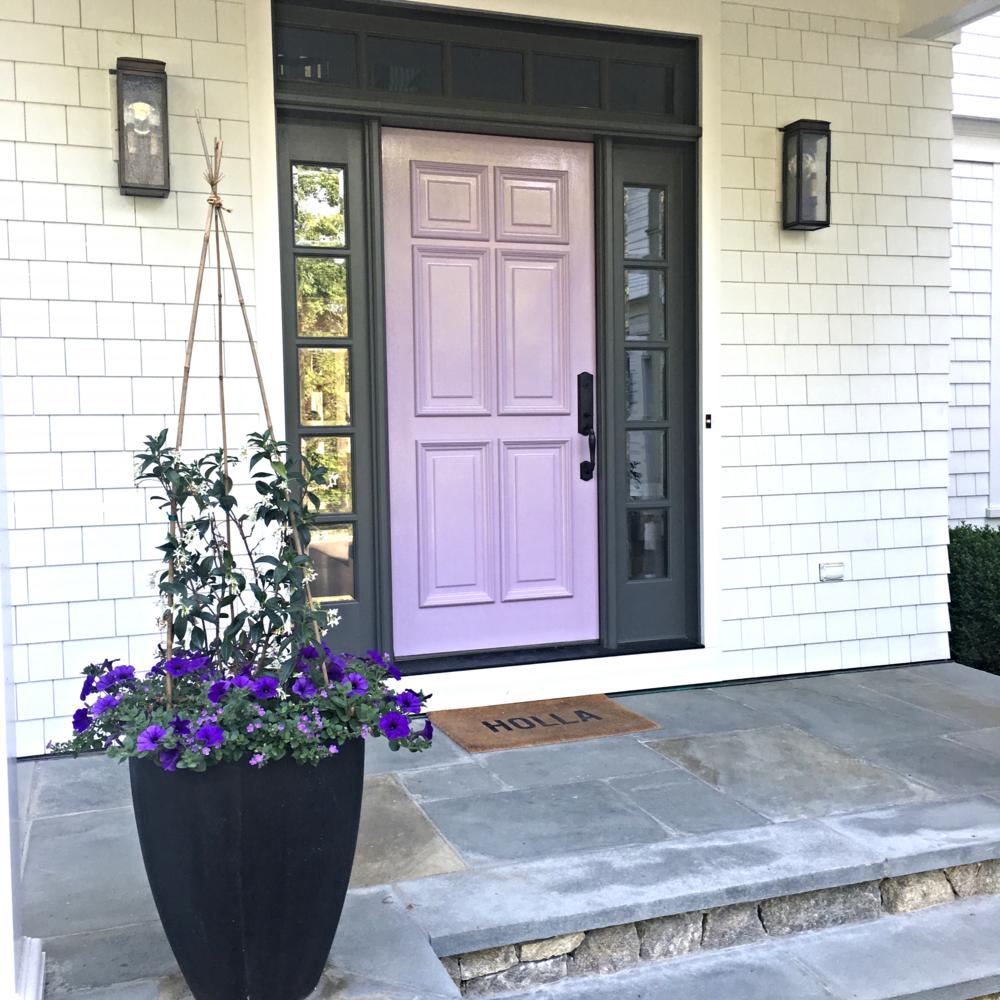 Why I Painted My Front Door Purple Jenn Falik