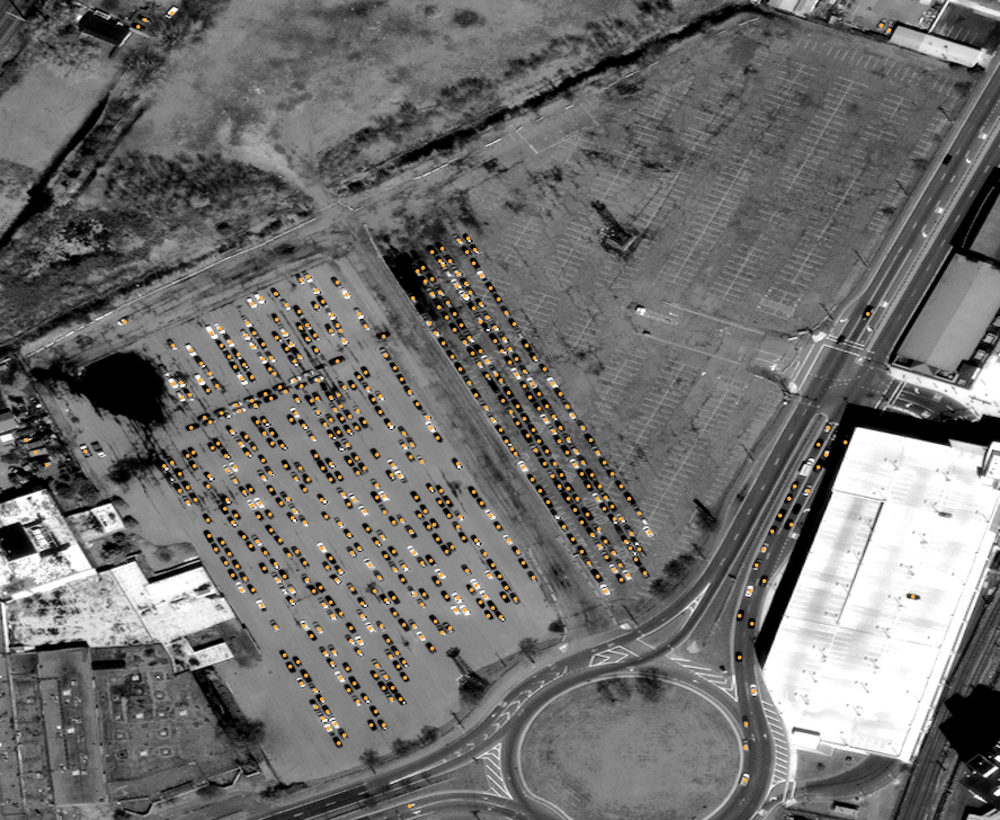 Object Detection - Detecting objects is fundamental to using satellite images. Counting vehicles may look hard, but we make it easy.