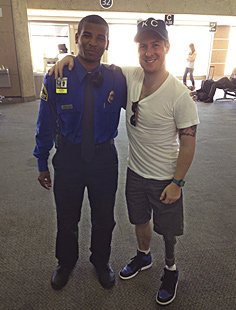 This is Mitchell, a TSA agent Billy met at Kansas City International Airport. Amputees often go through a rigorous screening process at airports and sometimes it affords time for conversation. After hearing that Billy is the director of a nonprofit that helps other amputees, Mitchell immediately wanted to be a part of the cause. He gave $50 cash from his pocket as one of the first donations to Steps of Faith.