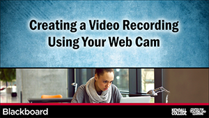 In this video, you will learn how to include video in your Blackboard course, specifically uploading or recording video created with your Web cam, using the Kaltura Media Mashup. (4:23)