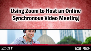"In this video, you will learn about a tool called Zoom to host synchronous video chats with your students. First, you will learn how to sign up for a free account. Then, you will learn how to invite your students to a Zoom room. Finally, you will learn how to host a session, including how to use the ""Share Screen"" function. (6:47)"