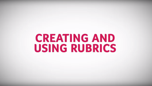 In this video, you will learn how to create and use rubrics in Blackboard. After you create a rubric and associate it with an item, you can use it for grading. (1:44)