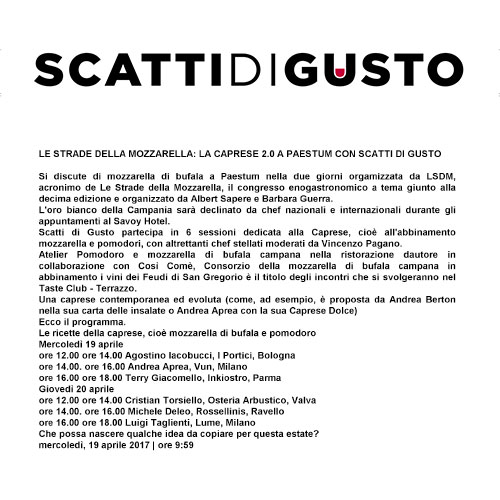 """<p><strong>SCATTI DI GUSTO</strong><a href=""""/s/LSDM-ScattidiGusto.pdf"""" target=""""_blank"""">Download</a></p>"""