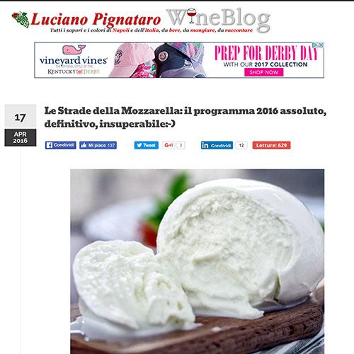 """<p><strong>LUCIANO PIGNATARO</strong><a href="""" http://www.lucianopignataro.it/a/le-strade-della-mozzarella-programma-2016-assoluto-definitivo-insuperabile/104583/"""">Link</a></p>"""