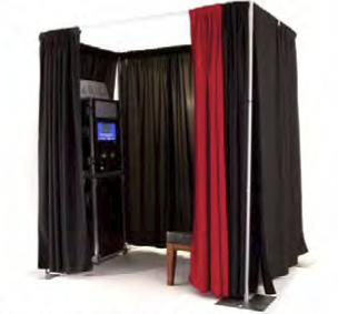 TRADITIONAL SETUP WITH PRIVACY CURTAINS.