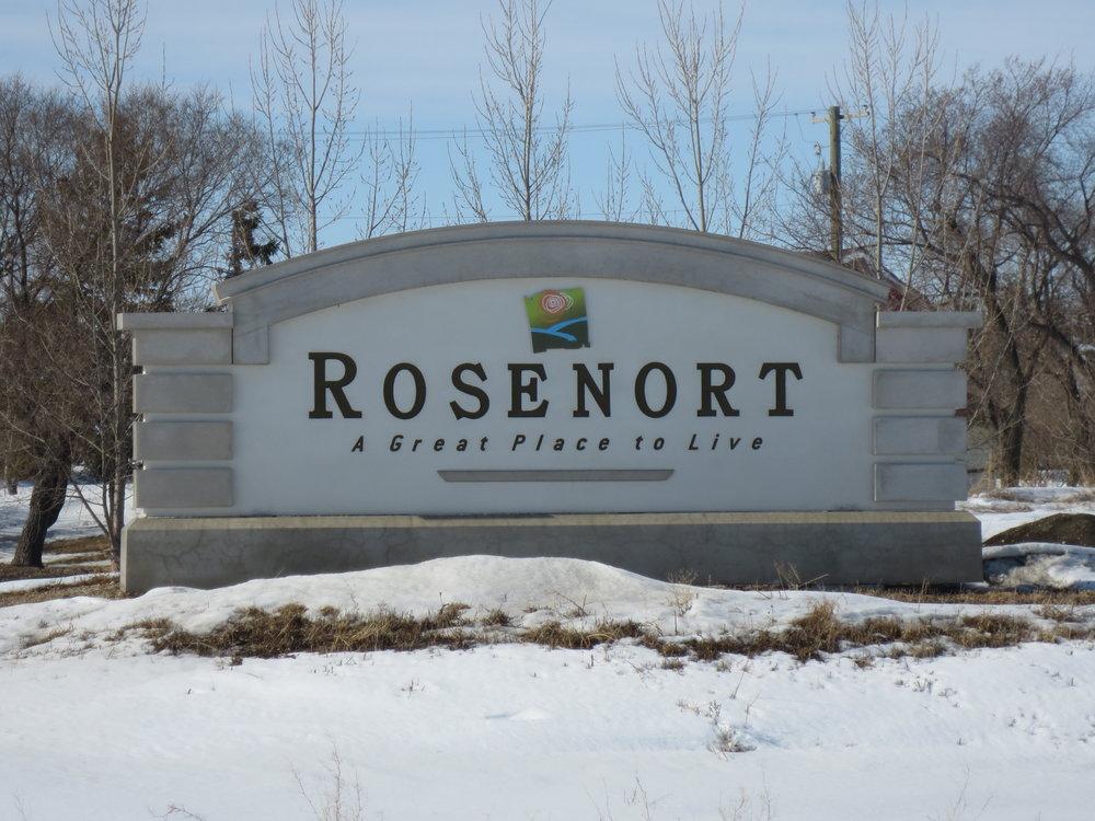 Rosenort Precast Sign