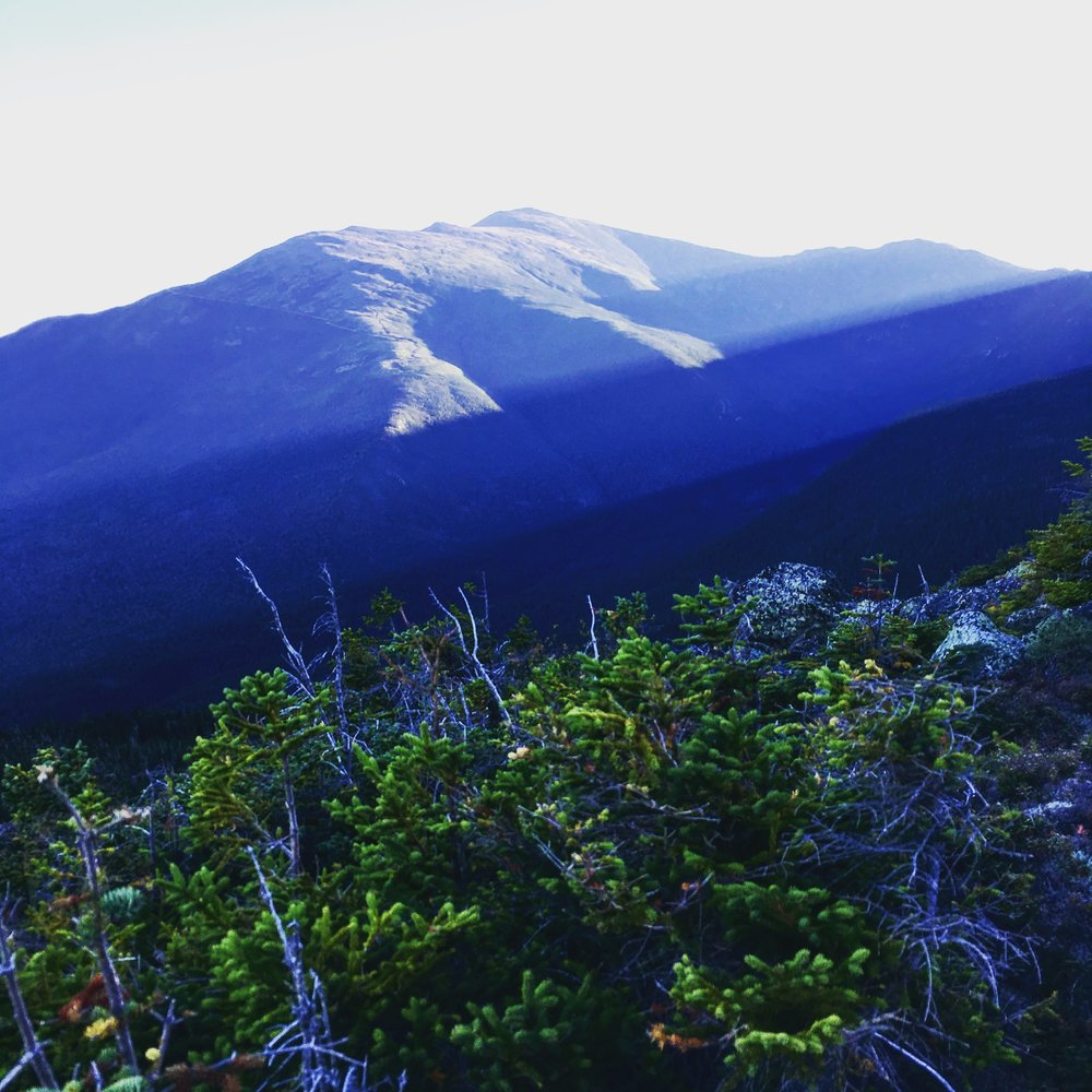 Looking out to Mount Washington as we descend from the Presidential Range