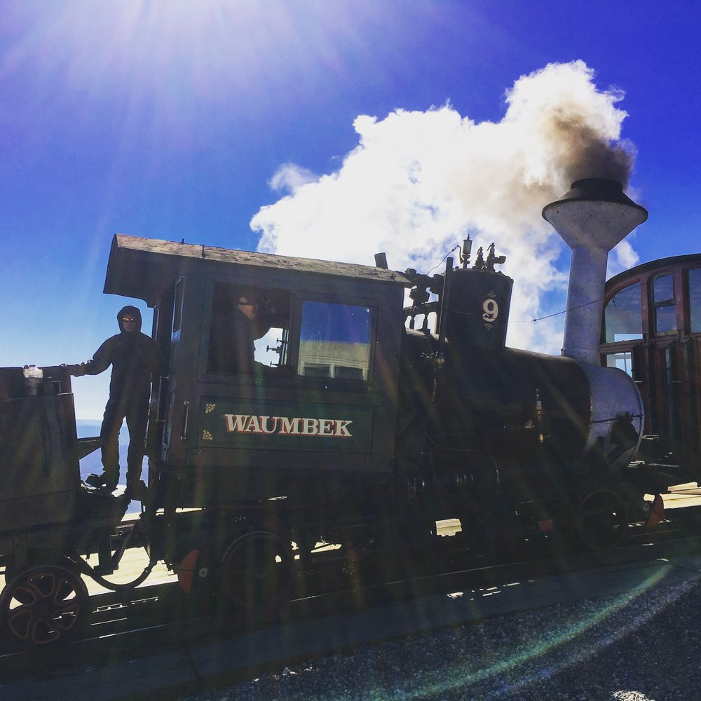 The Cog Railway carrying passengers to the summit of Mt. Washington