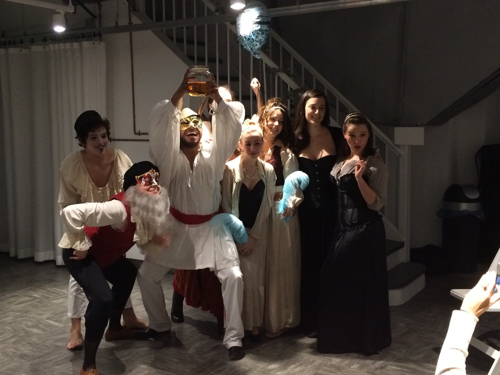 Student production of Commedia Dell'arte-inspired piece.