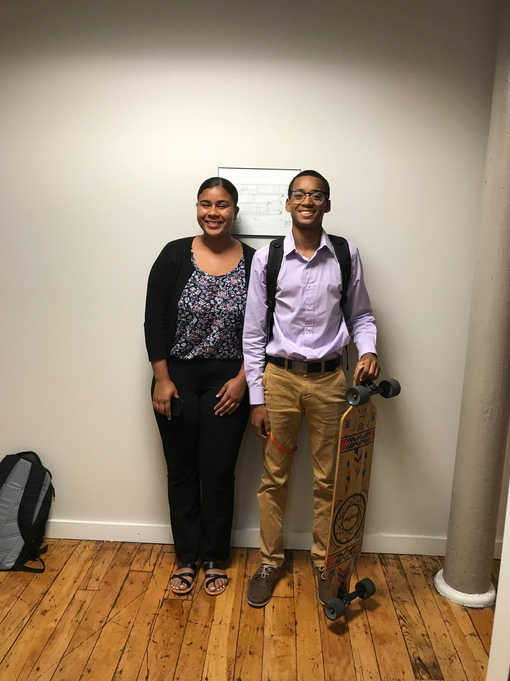 2017 Rubix STEM Cohorts: Seniors Emily Toala (L) and Eddy Castro (R)