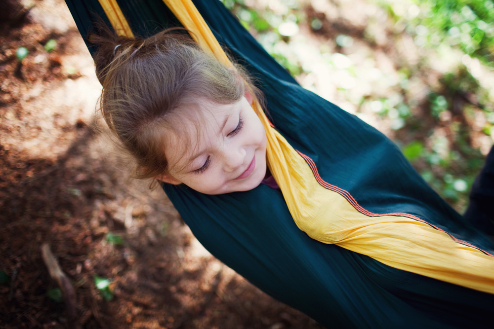 How to nap outdoors in hammock.