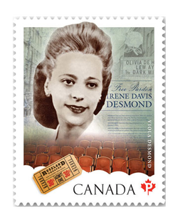 Viola Desmond stamp (© Canada Post, 2012)