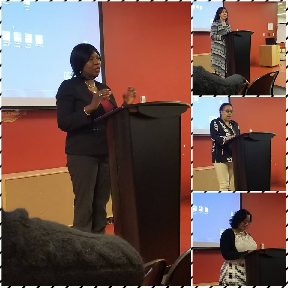 African Canadian Women Doing Business (Ann Divine, Amanda White, Lezlie States, and Crystal John), in partnership with Halifax Public Library during AHM 2018.