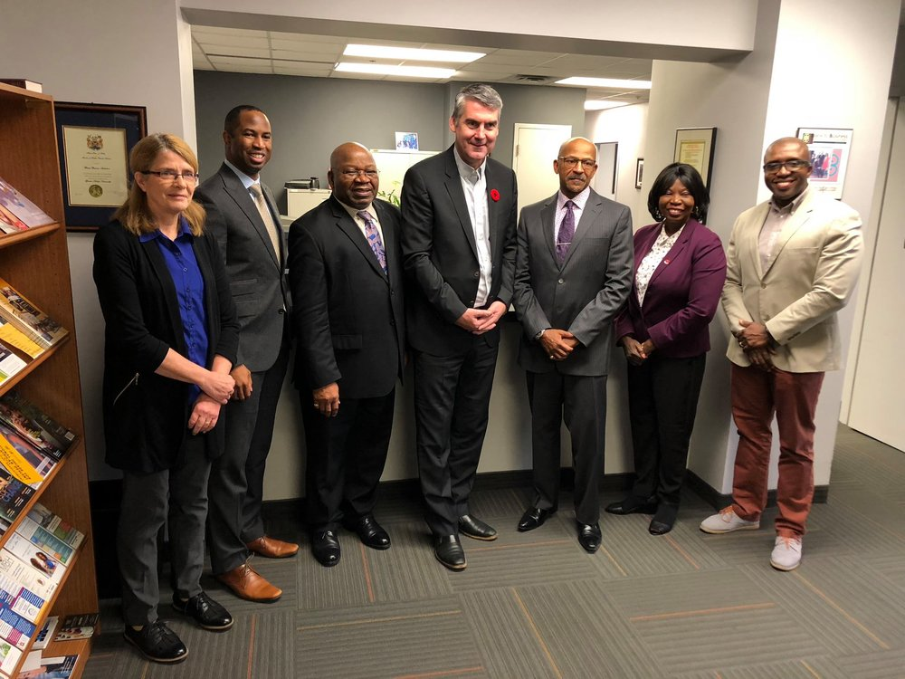 Meeting with Premier Stephen McNeil and fellow Board Members for the Black Business Initiative on October 30, 2018.