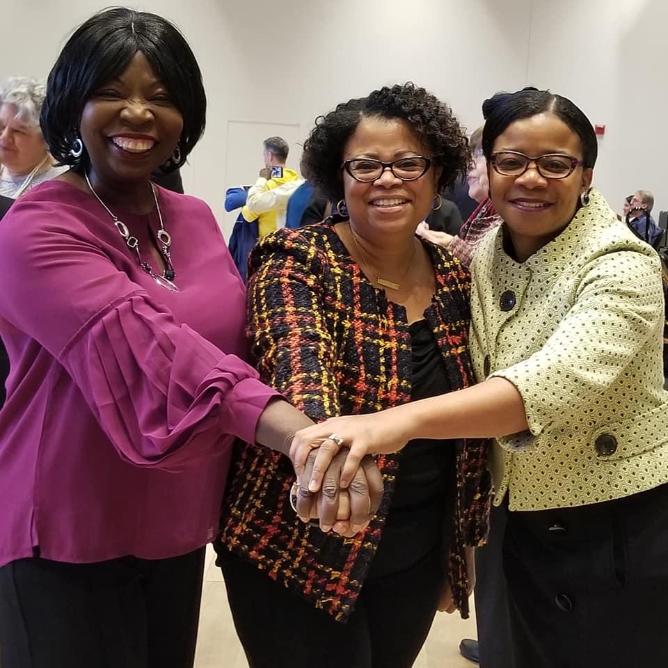 Ann Divine, Tracey Thomas and Kesa Munroe-Anderson
