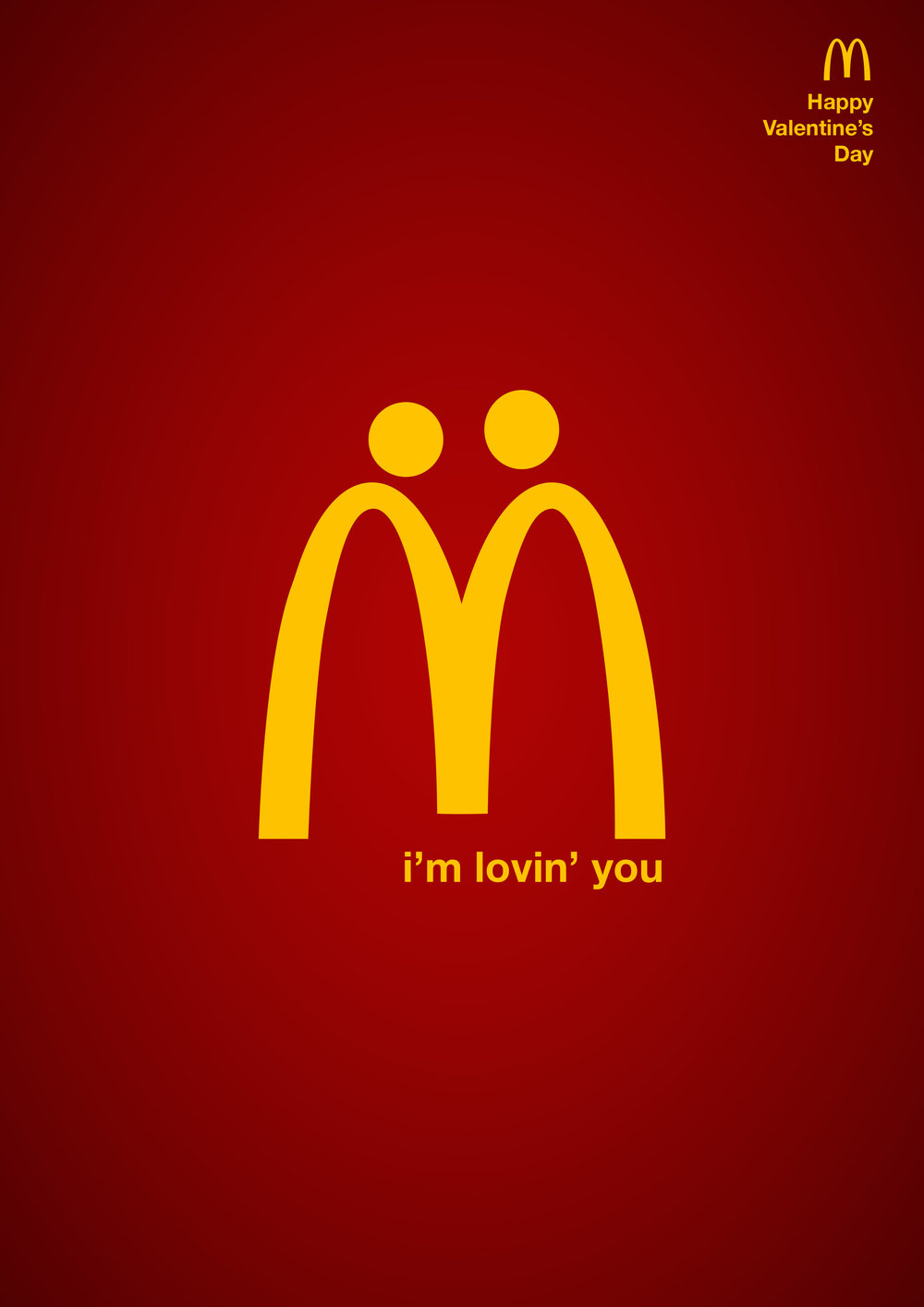 Poster ADS for Valentine's Day @McDonald