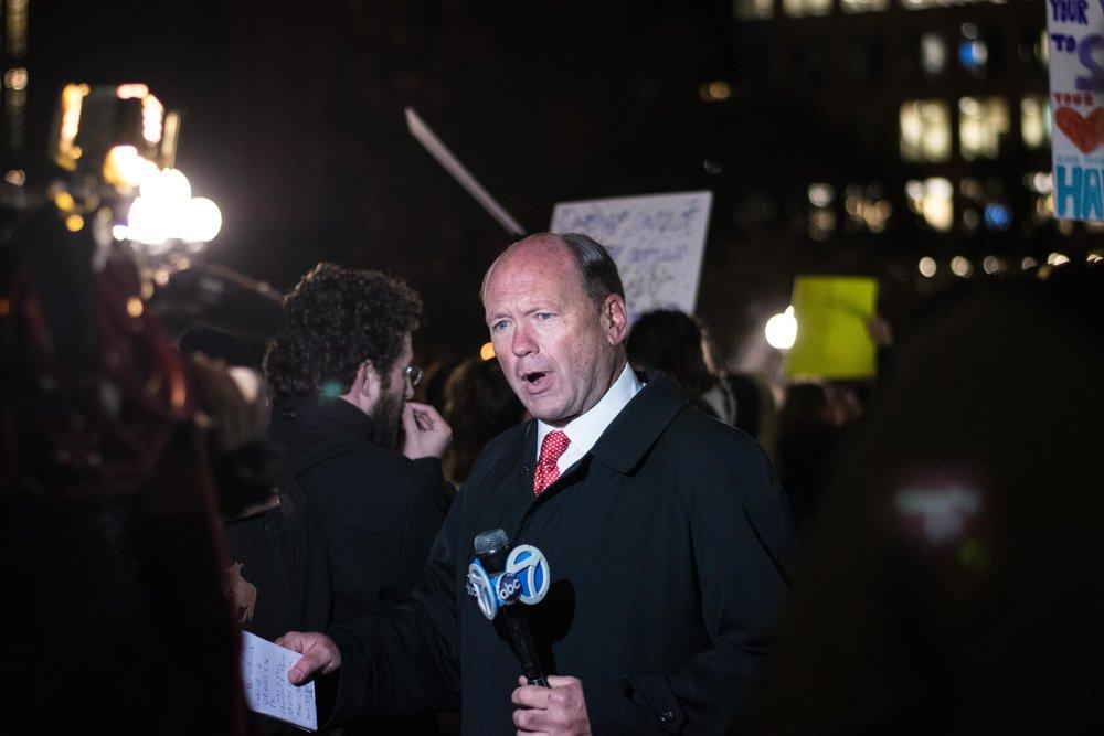 2016-NYC-New-York-Trump-Protest-March-News-Reporter-Spokesperson-Media
