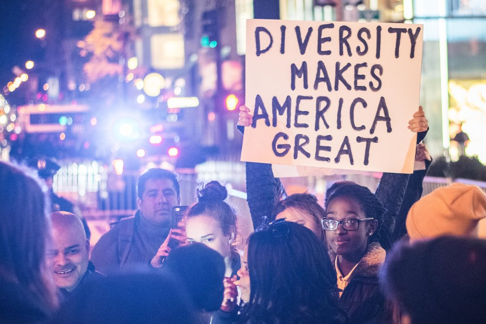 2016-NYC-New-York-Trump-Protest-March-Diversity-Sign-African-American