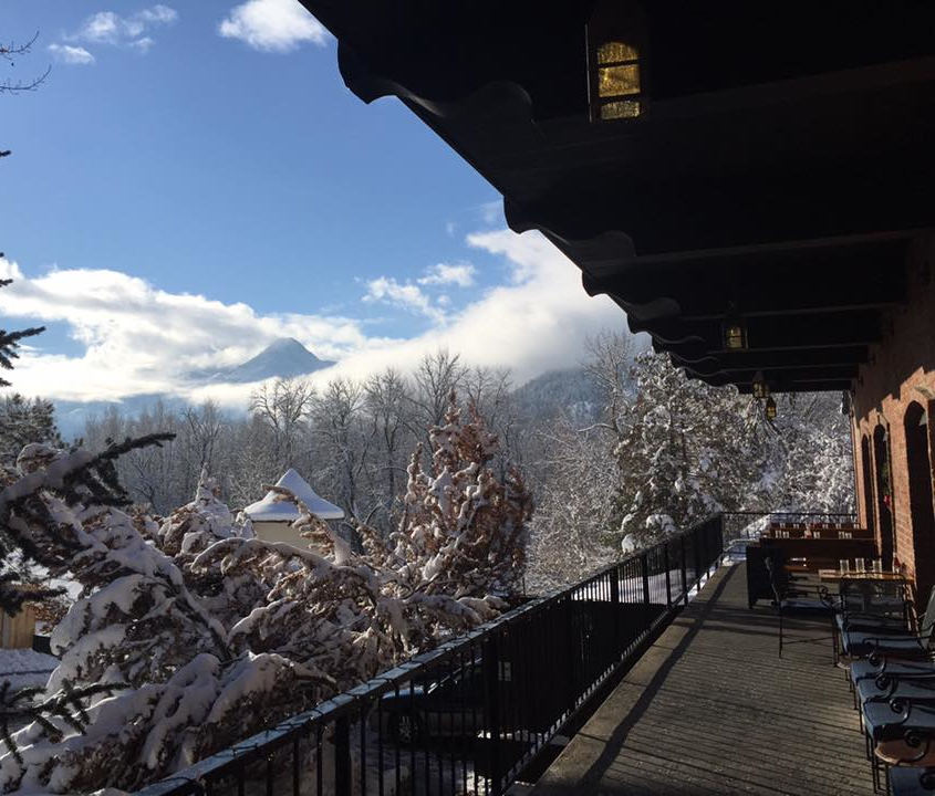 The view from the Watershed Cafe patio this winter.