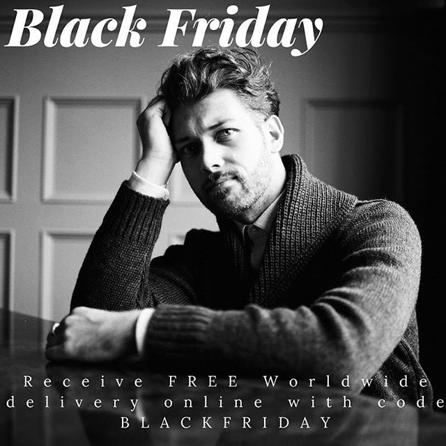 #BlackFriday is here, and whilst we don't believe in discounting our brand, we can make sure you get your ordered delivered for free with code BLACKFRIDAY  #mensfashion #menswear #men #mensstyle #mensstyleguide #tgif #sweaterweather #jumper #cardigan #wool #choosewool #knitwear #giftsforhim #giftidea #christmas #xmas #british #britishstyle #instafashion #fashiongram
