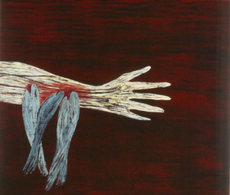 "Piranhas  1982 • Oil on canvas, 66"" x 78"